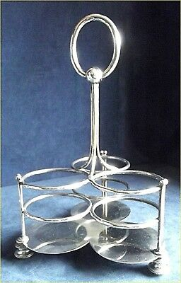 SUPERB ~ SILVER Plated ~ Triple BOTTLE Caddy ~ c1935 by Mappin & Webb