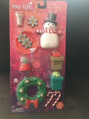 "My Life As Holiday Decorations Play Set for 18"" Dolls Christmas New"