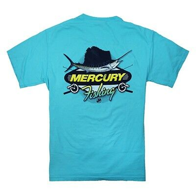 Mercury Marine Reel Fishing Tee - Lagoon Blue
