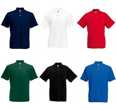 Fruit of the Loom Poloshirt Polo Shirt Herren 100% Baumwolle Größe S - 3XL