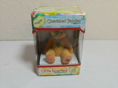 Cherished Teddies Little Sparkles August Birthstone Bear Enesco NIB