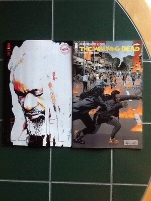 Two (2) The Walking Dead Issue #183 Regular & Variant  Cover Image Comic