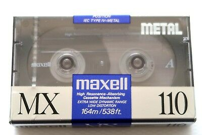Maxell Mx 110 Metal Position Type Iv Blank Audio Cassette - Japan 1991