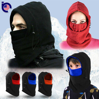 Men Women Winter Fleece Balaclava Hat Beanie Snow Ski Neck Face Mask Hood Cap US