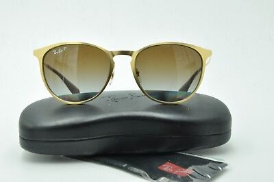 d130bfcb8a1 Ray Ban RB 3539 Sunglasses 112 T5 Round metal Gold   Brown Polarized Lenses  54mm