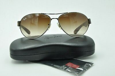 b7ee2220054 NEW RAY BAN Sunglasses Gunmetal Frame RB 3386 004 13 Gradient Brown ...
