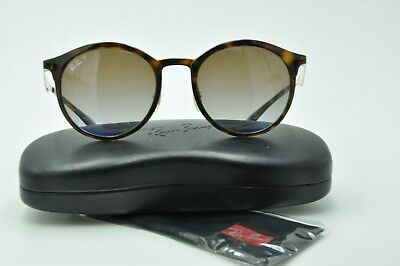 Ray Ban RB 4277 Sunglasses 710 T5 Tortoise Round   Brown Gradient Polarized  51mm 7a4054a534b7