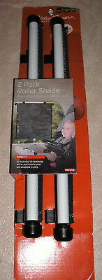 """NEW Eddie Bauer 2 Pack Deluxe Roller Sun Heat Shade for Vehicle Window 14"""" Wide"""