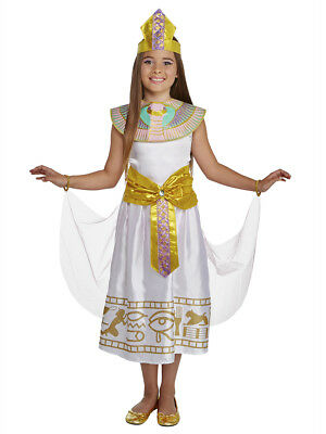 Girls Colorful Cleo Egyptian Cleopatra Dress Costume