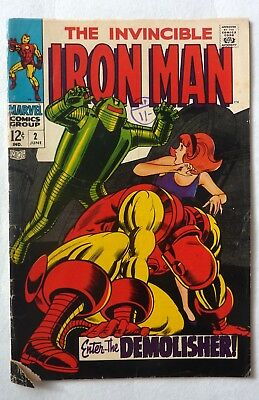 Iron Man 2 Silver Age VG+/NF- Condition 1968