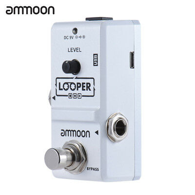 ammoon Loop Electric Guitar Effect Pedal Looper 10 Minutes Recording True Bypass