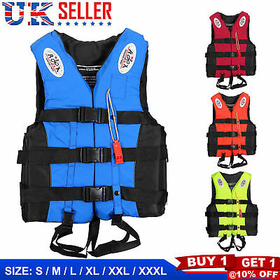 Adult Kids Lifesaving Vest Swimming Ski Buoyancy Aid Safe Sailing Life Jacket UK