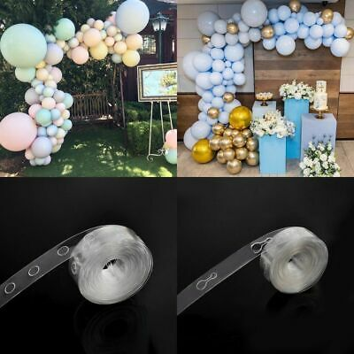 Helium Balloon fixed arch Strip Connect Chain Plastic Tape Party Wedding Decor