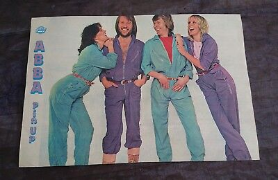 ABBA POSTER/PIN-UP. Vintage. Jackie magazine. RARE