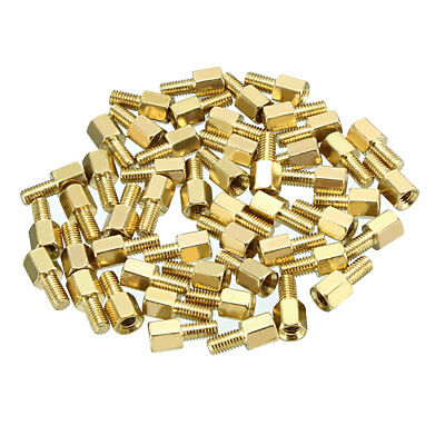 50pcs M3 5+6mm Female Male Thread Brass Hex Standoff Spacer Screws PCB Pillar