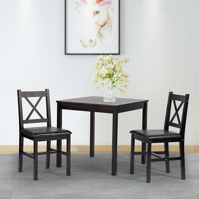 Dining Kitchen Table Dining Set 3 Piece Wood in Door Farmhouse Dining Table Set