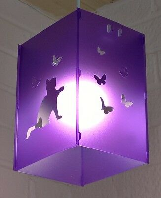 The square purple cat butterfly lampshade  lightshade contemporary classic