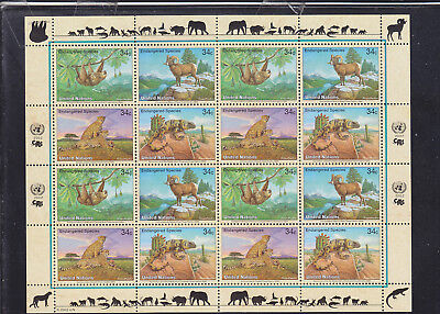 065260 Katzen Cats ... UNO United Nation 890-93 Zd-Bogen ** MNH Year 2002