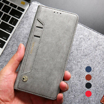 Luxury Flip Leather Wallet Card Slots Soft Case Cover For Samsung Galaxy S10 S9