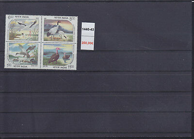 065302 Vögel Birds India 1440-43 ** MNH Year 1994 - 250 EURO