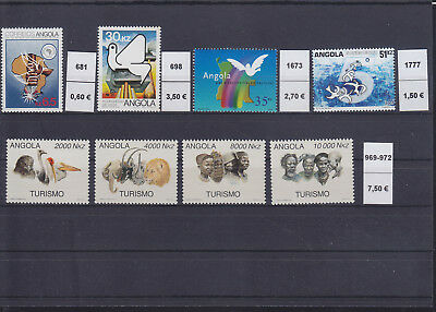 065305 Vögel Birds ... Angola Stamps Briefmarken ** MNH - Lot
