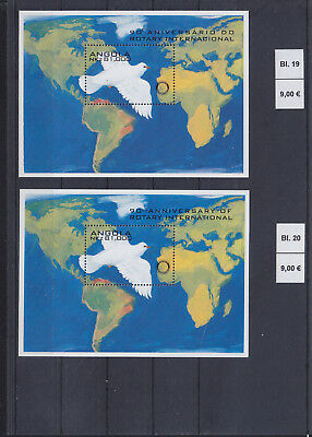065306 Vögel Birds Angola Block 19/20 ** MNH Year 1995