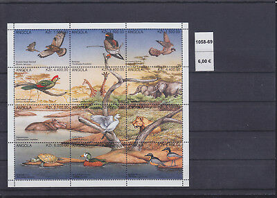 065308 Vögel Birds ... Angola 1058-69 ** MNH Year 1996