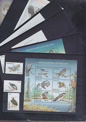 065312 Vögel Birds Angola 1501-22 + Block 79/82 ** MNH Year 2000