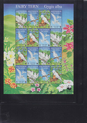 065332 Vögel Birds Ascension 786-89 Zd-Bogen ** MNH Year 1999