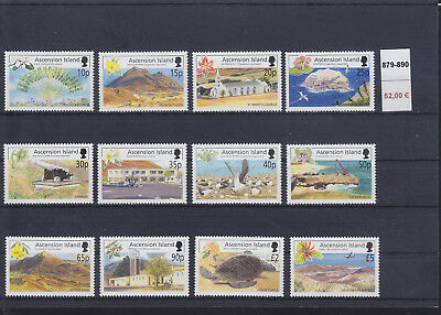 065334 Vögel Birds ... Ascension 879-90 ** MNH Year 2002