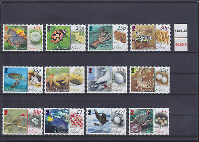 065340 Vögel Birds ... Ascension 1021-32 ** MNH Year 2008
