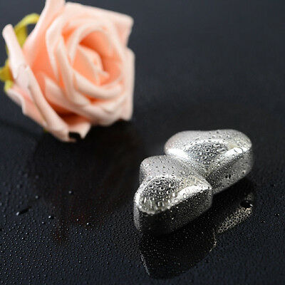 Love Shape Stainless Steel Ice Cube Reusable Chilling Rocks Stones y LG