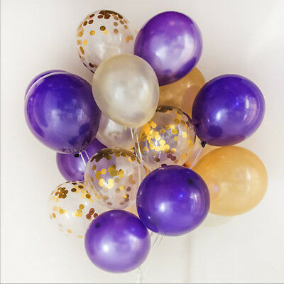 20pcs/set Latex Confetti Filled Balloons for Wedding Birthday Party Decor New