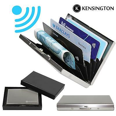 Brushed Aluminium RFID Blocking Wallet Anti-Scan Contact Less Credit Card Holder