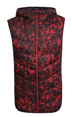 Puma FUN T48 Padded Hooded Womens Gilet Bodywarmer Vest Plum-Red 833840 41 WH A