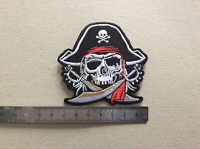 D262 // Ecusson Patch Aufnaher Toppa / Neuf / Crane Pirate Sabre 8*7,5 Cm