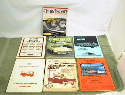 1958-1966 ford thunderbird books manuals wiring restoration william wonder  1960