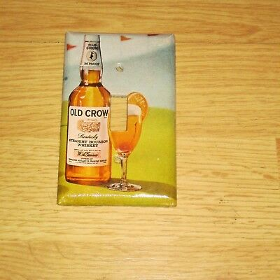 Vintage Style Old Crow Kentucky Whiskey Bottle Light Switch Cover Plate A