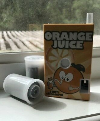 35mm Lo-Fi Orange juice box kid's camera with 2 rolls of film