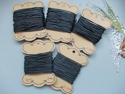 10 Metres Black Waxed Cotton Jewellery String For Making Necklace,Bracelet,