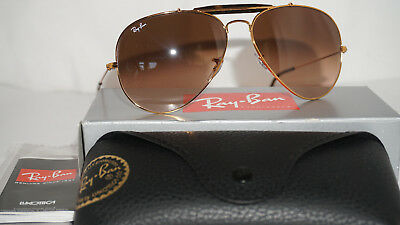 7fefeed3c9 RAY BAN New Aviator Outdoorsman II Bronze Brown Gradient RB3029 9001A5 62 14  140