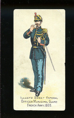 1888 N224 Kinney #399 Officer Municipal Guard French Army 1886 Ser M G-VG 89985