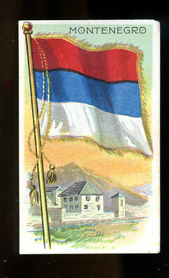 1911 T59 Flags of Nations Montenegro Derby VG 98736