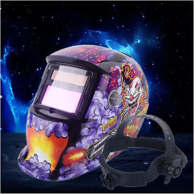 Solar Powered Auto Darkening Welding Helmet Arc Tig Mig Grinding Welder Mask US