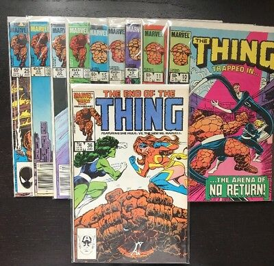 The THING 1984 Comic Book Lot (10) Issues 10, 11, 13-15, 21-23, 25, 36 - 12pics!