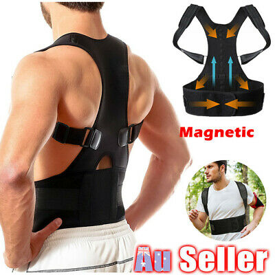 Posture Corrector Support Men Women Magnetic Back Shoulder Brace Adjustable ZX