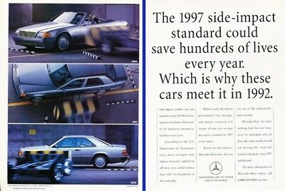 1992 Mercedes Benz 300SL 300E 300CE 2-page Advertisement Print Art Car Ad J230