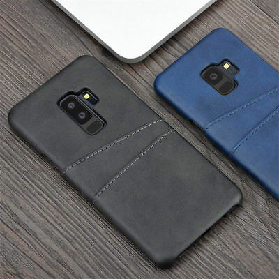 For Samsung Galaxy Note 9 S10 A9 2018 Leather Wallet Credit Card Slot Case Cover