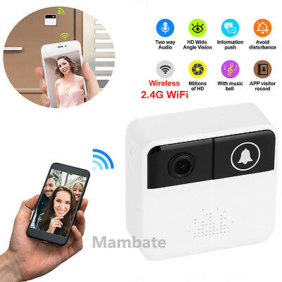 Smart Wifi Doorbell Wireless HD Video Camera Ring Night Vision Security System