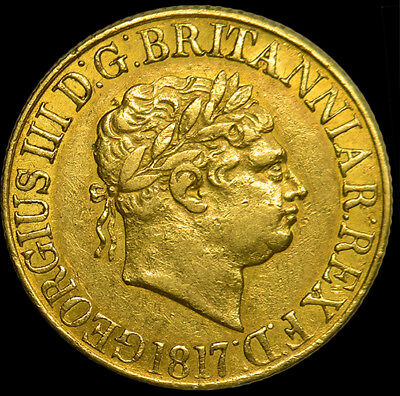 King George The Iii 1817 Gold Sovereign...